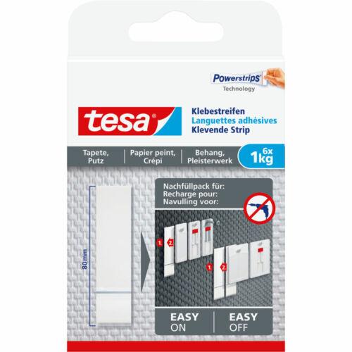 tesa Klebestreifen 77771-00000-00 6 Stück für Tapeten und Putz