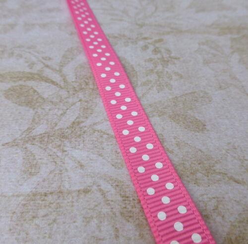 5 meters Polka Dot Ribbon Grosgrain Ribbon 10 mm spotty ribbon