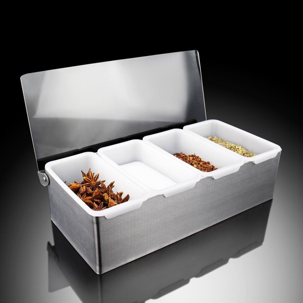 Salière Poivrière Set Sel Poivre Condiment Assaisonnement Box Spice Container Comercial usage domestique
