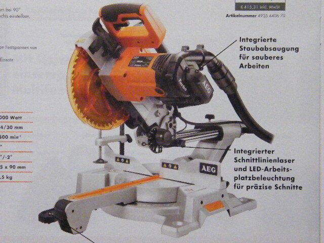 AEG Kapp- und Gehrungssäge PS 254 L
