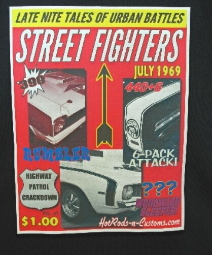 STREET FIGHTERS T-SHIRT HURST RAMBLER SUPER BEE CAMARO
