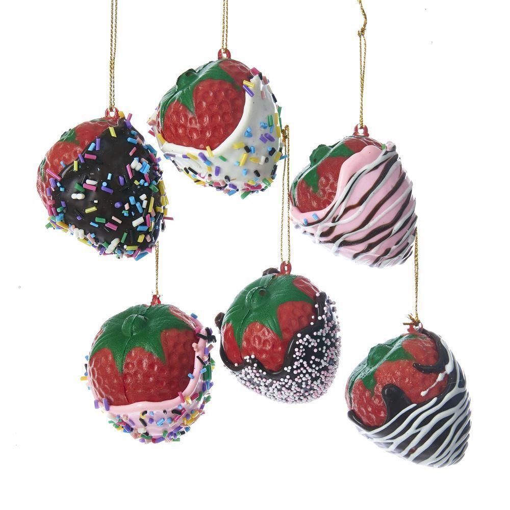 Foam Chocolate Chocolate Chocolate Coverot Strawberry Christmas Tree Ornaments, 2-Inch, 6-Piece 02ec55