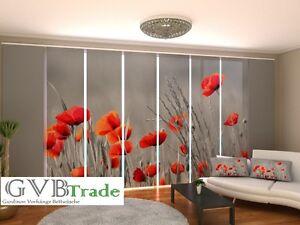 fotogardinen blumen schiebevorhang schiebegardinen vorhang gardinen 3d auf ma ebay. Black Bedroom Furniture Sets. Home Design Ideas