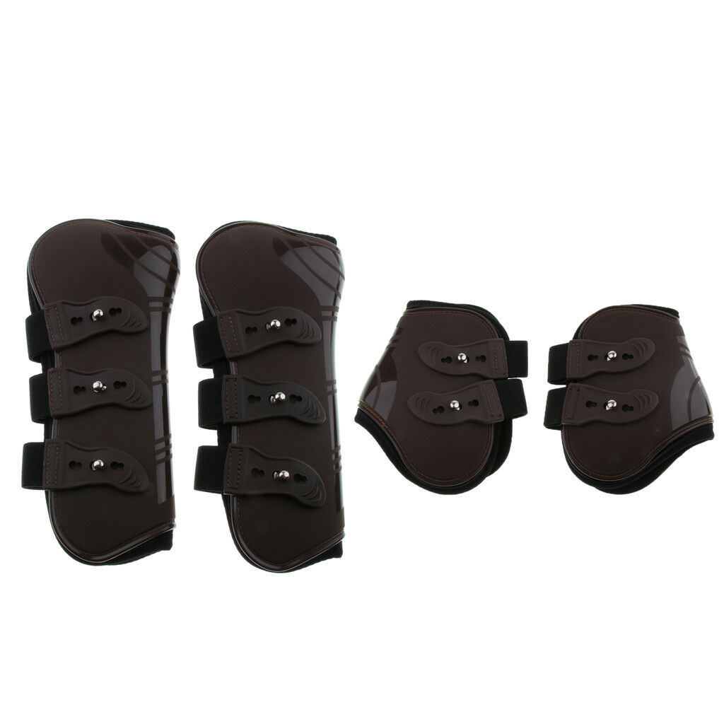 2Pair Outdoor Pony Horse Leg Boots Hind Front Leg Jumping Predect Wear Wraps