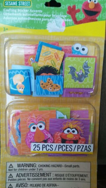 Sesame Street Chipboard Scrapbook Birthday Card 24pc Party Elmo