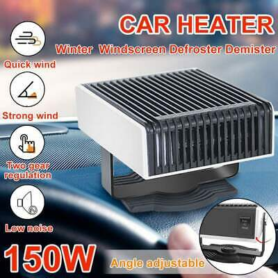 12V Car Portable Ceramic Heater Cooler Dryer Fan Defroster Demister Deicer Hot