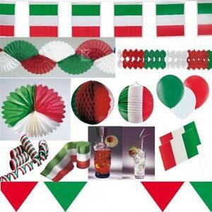Italien Party Deko Grun Weiss Rot Auswahl Tischdeko Girlanden Fahnen