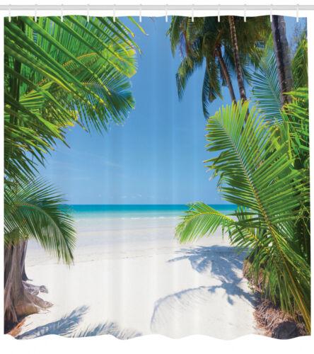 Ozean Duschvorhang Palm Leaf tropischen Strand