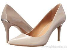 2e255e8763fe Calvin Klein Gayle Liquid Patent Shadow Gray Textured PUMPS HEELS 9m ...