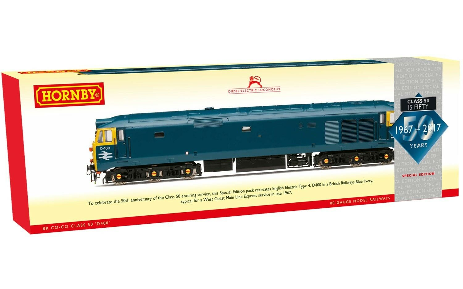 Hornby R3571 BR Co-Co Diesel Electric Class 50 is 50  D400  Special Ed DCC Ready