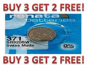 371-RENATA-SR920SW-D370-Watch-Battery-Free-Shipping-BUY-3-GET-2-FREE