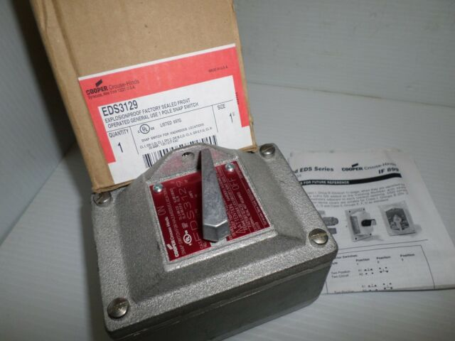 """CROUSE HINDS DS415 EDS0271 ¾/"""" NPT EXPLOSION PROOF ENCLOSURE W// SWITCH"""