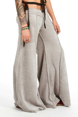 Velvet Flow Pants Hippy Psy Pixie Festival Extra-Wide Long Bellydance Trousers