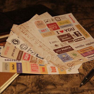 Popular DIY Calendar Paper Sticker For Scrapbooking Diary Photo Album Decor 6Pcs