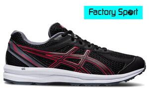 Detalles de Asics Gel Braid negro rojo zapatillas deportivas running para  hombre