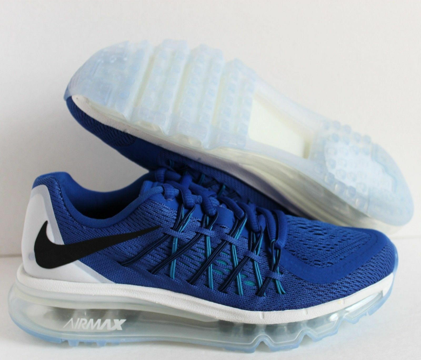 NIKE AIR MAX 2015 (GS) GAME ROYAL KÉK-FEHÉR SZ 6Y-WOMENS SZ 7.5 [705457-401]
