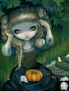 Jasmine-Becket-Griffith-art-BIG-print-SIGNED-fairytale-Cinderella-at-Midnight