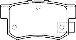 HONDA CIVIC 1.3 1.6 1.7CDTI BRAKE PADS REAR MINTEX NEW