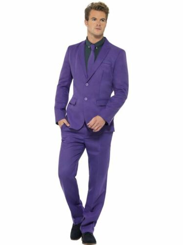 Mens Adults Stand Out Suit Purple Stag Night Festival Fancy Dress Costume Outfit