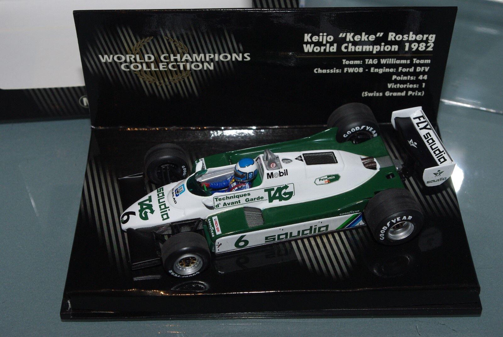 Minichamps 1 43 F1 FW08 Keke Rosberg Williams 1982-Colección de campeones del mundo