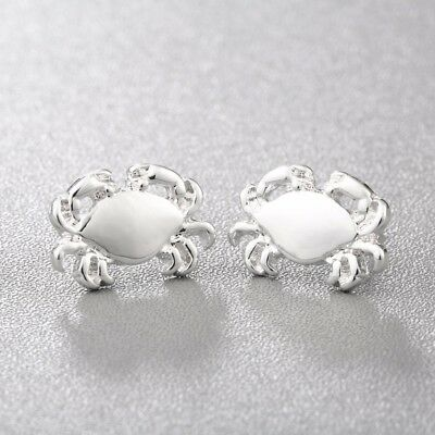 Small Cute Crab Stud Earrings ~ Cancer Zodiac Animal Jewellery ~ Silver or Gold