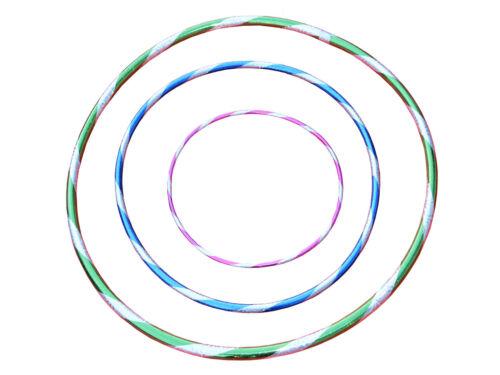 New Glitter Multicolour Children Adult Hula Hoop Polypro Indoor Outdoor Fitness