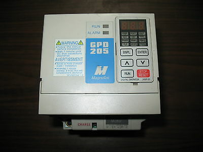 MagneTek 2 HP 3.4 Amps GPD205-B001 GPD 205 VS Variable Speed Drive 2HP 3.4A