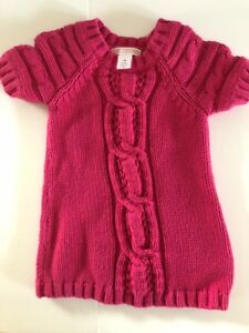 02f5e7c6c9b3 GAP Baby Girls NWT 3-6 Months Pink Cable Knit   Sweater Short sleeve ...