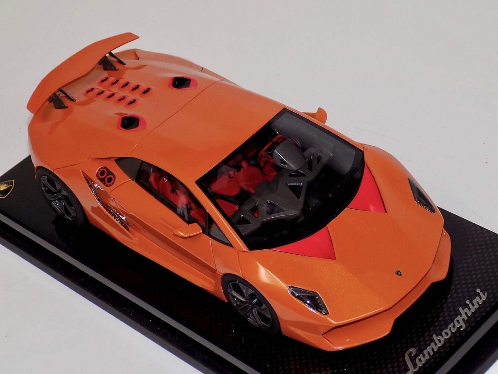 1 18 MR Collection Lamborghini Sesto Elemento in orange Borealis on Carbon Base