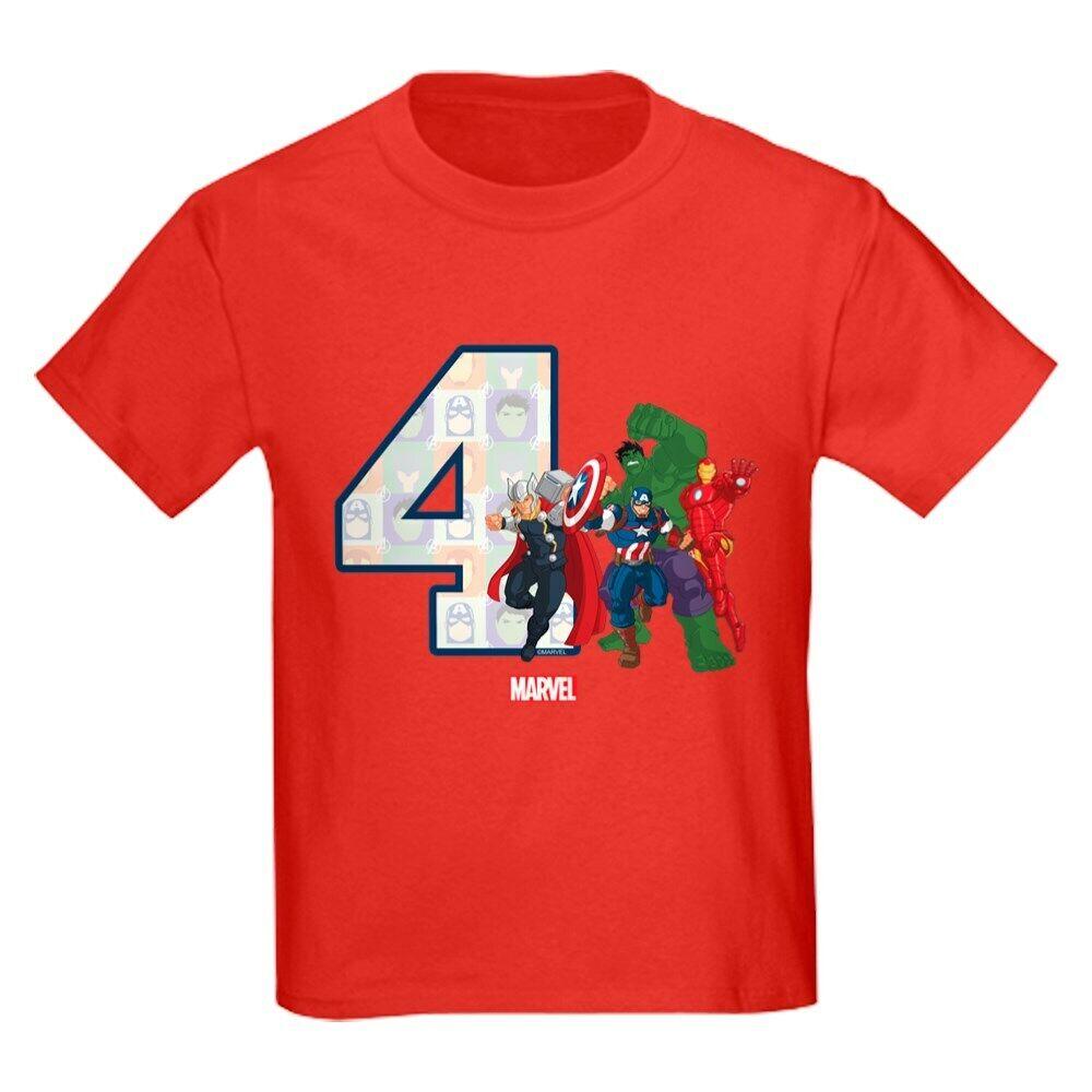 208858039 CafePress The Avengers Birthday Age 5 Kids Dark T Shirt Kids T-Shirt