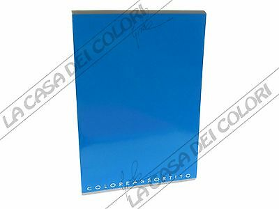 Diplomatico Top Quality Coloreassortito - Quaderno A4 - Rigo C (righe 10 Cm Con Mar) - Blu
