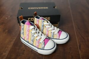 260d82b252af Converse Kids Chuck Taylor All Star Hi top Plastic Pink Multi Color ...