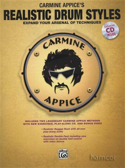 Carmine Appice's Realistic Drum Styles Book/CD Set Double Feet & Reggae Rock