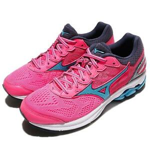 Mizuno-Wave-Rider-21-Pink-Blue-Women-Running-Shoes-Sneakers-J1GD1803-23