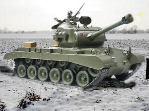 UK-Heng-Long-RC-Tank-2-4G-Pershing-Snow-Leopard-SMOKING-and-SOUND-amp-BB-SHOOTING