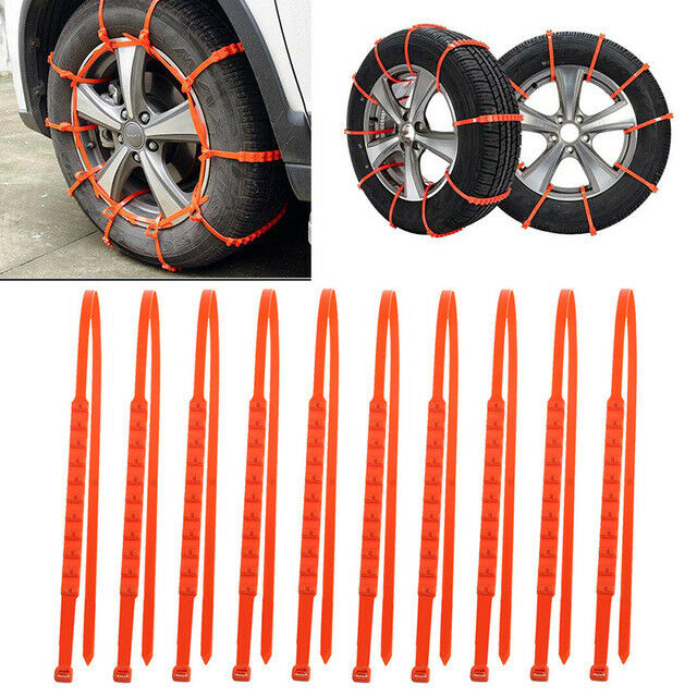 Prevent Car Skidding Adjustable Tire Straps SUV Car Emergency Universal Thickening Anti Slipsnow Chains None//Brand 10pcs Anti-Skid Cable Ties For New Portable Vehicles