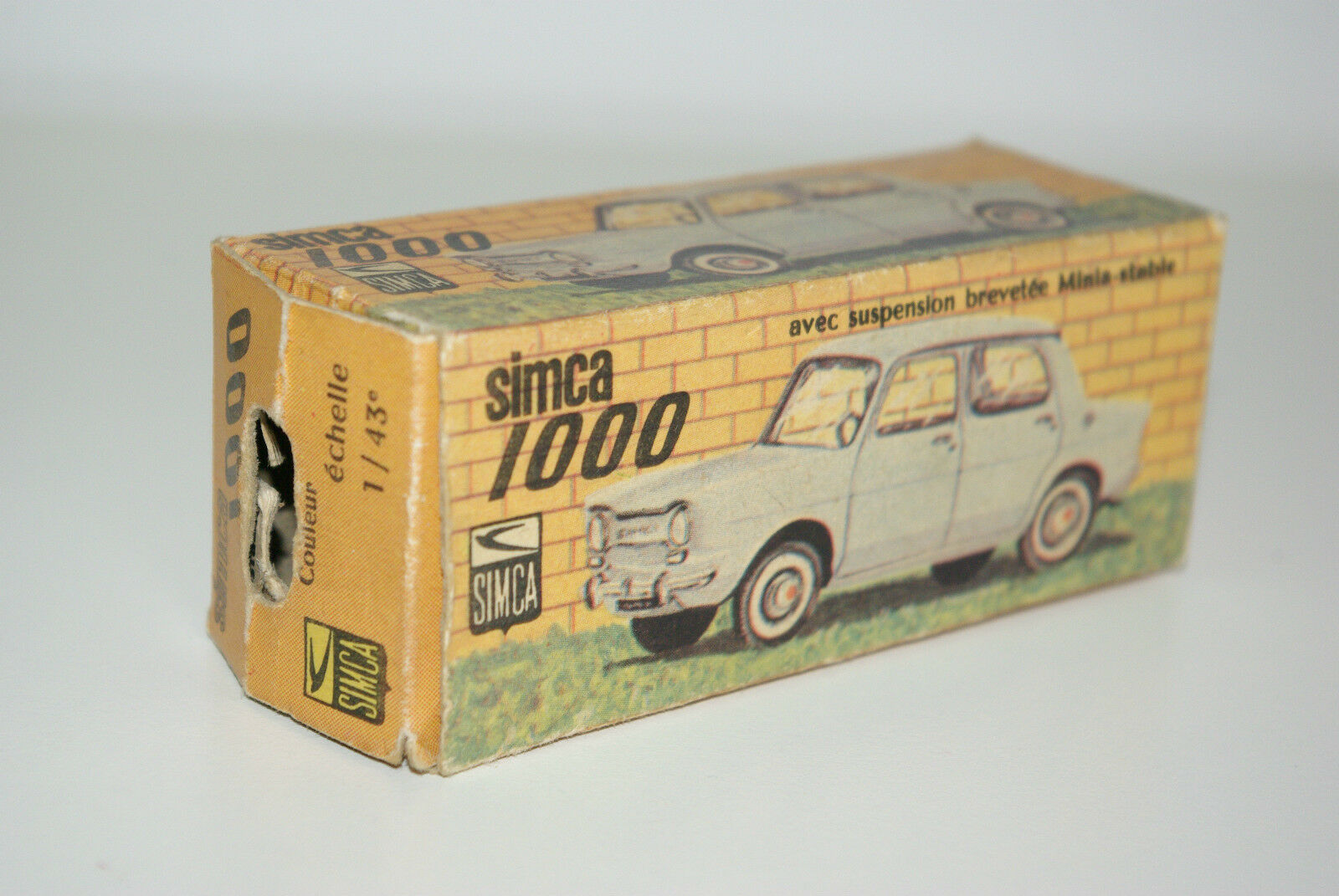 MINIALUXE SIMCA 1000 EMPTY BOX ORIGINALE EXCELLENT RARE RARO RARO!!!