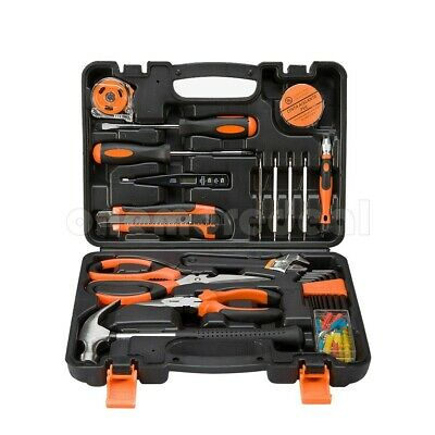 45 Pcs Home Repair Maintain DIY Car Household Hand Tool Kit Set Case Box dl45