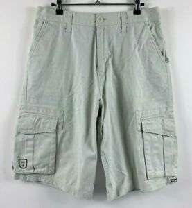 Quiksilver-Men-039-s-Cargo-Shorts-Size-30-Beige-Summer-Shorts-Zip-Fly-Smart-Casual