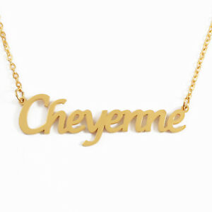 18ct Rose Gold Plated Kigu Cheyenne Custom Name Necklace Personalized