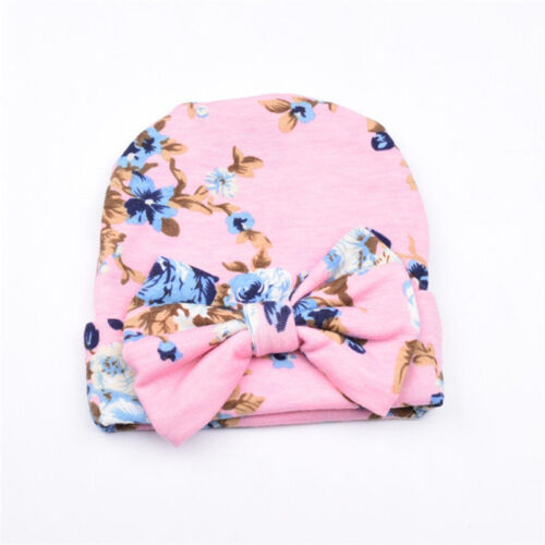 Cute Newborn Baby Infant Girl Toddler Comfy Bowknot Hospital Cap Beanie Hat HOT