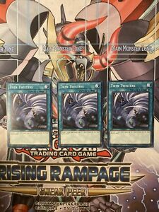 Twin Twisters x3 Common 1st ed NM Yugioh Cards