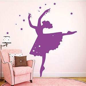 11157 wandtattoo ballerina t nzerin sterne m dchen for Wandtattoo kinderzimmer sterne