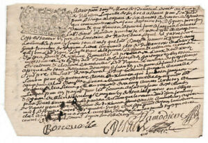 1697-LOUIS-XIV-royal-notary-signed-manuscript-Amazing-SIGNATURES-and-stamp