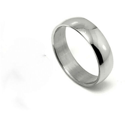 Classic 6mm titane band ring plusieurs tailles