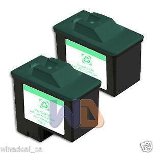 2-BLACK-Lexmark-Ink-Cartridge-16-High-Capacity-LEXMARK-16-10N0016-Reman-16