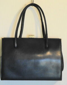 Vintage-50s-Freedex-Mode-Dark-Blue-Leather-Purse-Made-in-Republic-of-Ireland