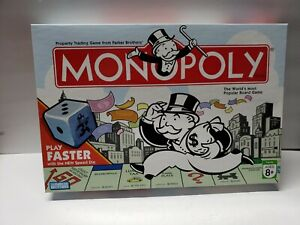 Monopoly-Board-Game-w-speed-dice-Hasbro-Parker-Brothers-2007-100-complete