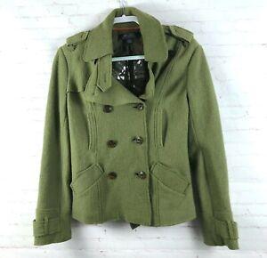 Millard-Fillmore-Women-s-Size-L-Green-Boiled-Wool-Blend-Jacket