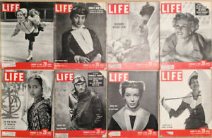 Lot-of-16-1950-LIFE-Mags-Gregory-Peck-Childbirth-Eva-Gabor-Marsha-Hunt-Stevens